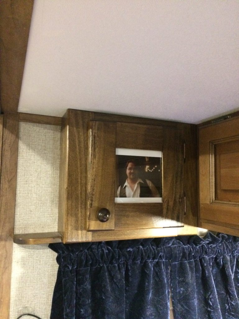 view of the left hand bedside cabinet installed