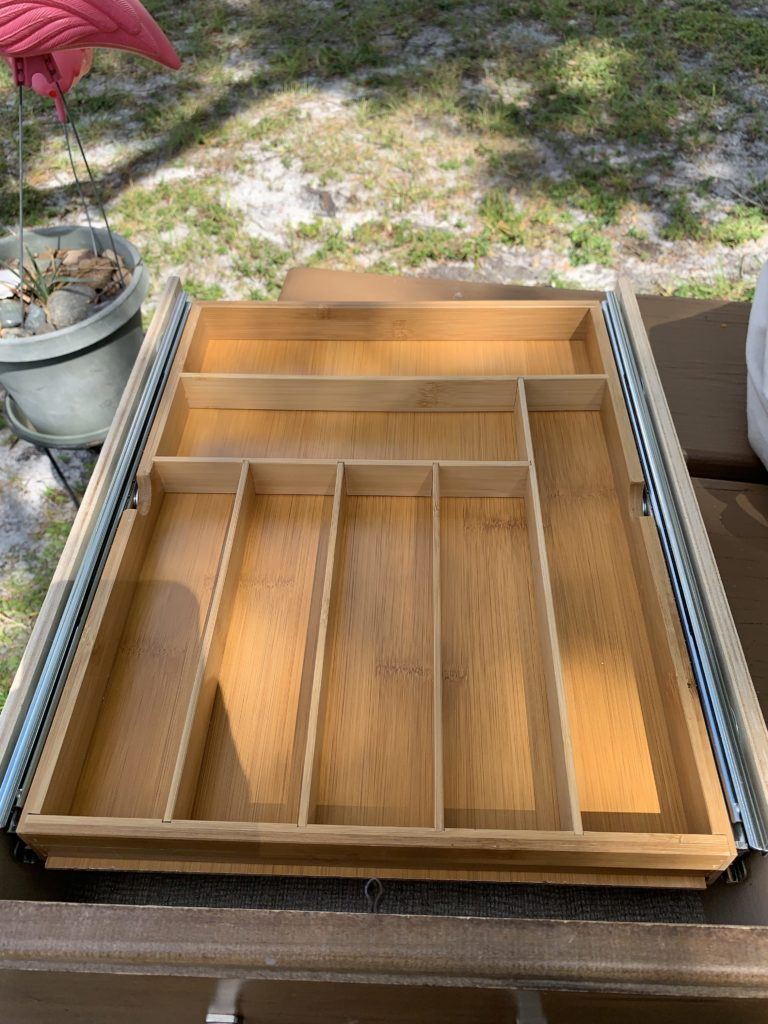 view of the drawer insert installed and in the closed position