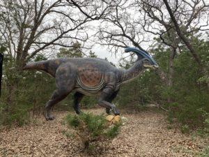 a dinosaur with a tiny head